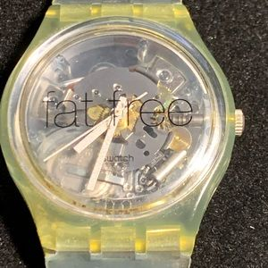 1997 vintage  Swatch Fat Free silicone watch